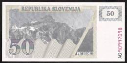 SLOVENIA  P5a   50  TOLARJEV   1990  Prefix AG     UNC. - Slovénie