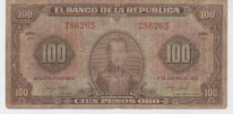 Colombia 100 PESOS 1951 , G/VG, (RARE) - Colombia