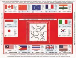 TONGA 2012 - Drapeaux Pays Invités Forum Du Pacifique Sud - Feuillet 14v Neufs // Mnh Sheetlet - Stamps