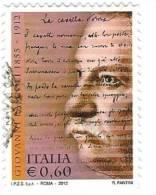 Italia 2012 : Giovanni Pascoli  ; Usato - 6. 1946-.. Repubblica