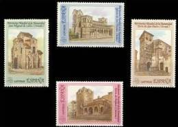 España 1990 Edifil 3092/5 Sellos ** Bienes Culturales Y Naturales Patrimonio Mundial De La Humanidad Completa Iglesias - 1931-Today: 2nd Rep - ... Juan Carlos I
