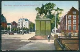 HOLLAND NEDERLANDS DEN HAAG SQUARE AND STATUE OF KING WILLEM II -G - Den Haag ('s-Gravenhage)