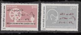 INDIA, 1992, 50th Anniversary Of Quit India Movement, 1942, Set 2 V,  MNH, (**) - Mahatma Gandhi