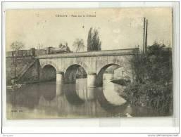 CHAGNY(71)1918-pont Sur La Dheune-train-circulée-rapée En Quelques Endroits Visible Scan - Chagny
