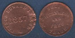 CANADA - JETON TOKEN PRINCE EDWARD ISLAND 1857 / SELF GOVERNMENT AND FREE TRADE - Monarchia / Nobiltà