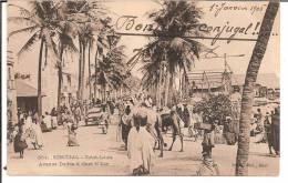 """SENEGAL SAINT-LOUIS 1906 BELLE CPA """"AVENUE DODDS A GUET N´DAR""""   DOS SIMPLE - Sénégal"""