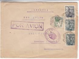 Chevaux - Lances - Boucliers - Franco - Espagne - Lettre Avion De 1939 ° - 1931-50 Brieven