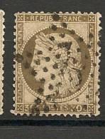 Fr  Pub Prix Fixe   YT N° 56 Oblitere Etoile De Paris  N° 9 P2 - 1871-1875 Ceres
