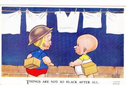 Brian White Comic Card Things Are Not So Black After All Postcard (COM1090) - Patriotic