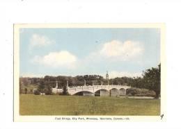 CANADA - MANITOBA - WINNIPEG. - Foot Bridge, City Park. - Manitoba
