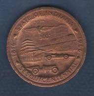 TOKEN  STATE OF INDIANA 1816 1966 SESQUICENTENNIAL / SEAL OF THE STATE OF INDIANA 1816 - Royaux/De Noblesse