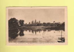 *  CPA..Angkor - Vat : Vue Générale Du Temple Au Delà De Son Bassin Sacré  Nord-Ouest  - Voir Les 2 Scans