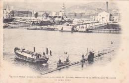 22010 Sous-marin Gustave Zede à Son Bord President Loubet 11 Avril 1901 -Bougault Toulon France - Sous-marins