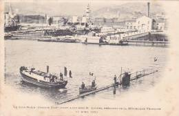 22010 Sous-marin Gustave Zede à Son Bord President Loubet 11 Avril 1901 -Bougault Toulon France