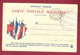 FM 14/18 - 100413 - CARTE POSTALE MILITAIRE 3 Drapeaux - Trésor Et Poste 84 - Cachet 353ème  D'Infanterie - Marcofilia (sobres)