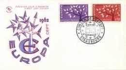 CEPT - FDC Frankrijk - Strasbourg 15-09-1962 - Michel 1411 - 1412 - 1962