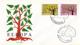 CEPT - FDC Luxemburg - Luxembourg 17-09-1962 - Michel 657 - 658 - 1962