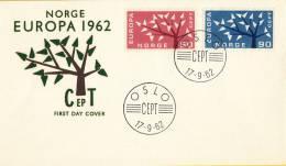 CEPT - FDC Noorwegen - Oslo 17-09-1962 - Michel 476 - 477 - 1962