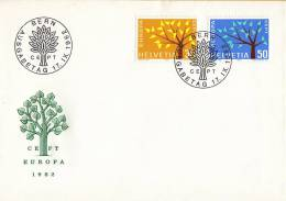 CEPT - FDC Zwitserland - Bern 17-09-1962 - Michel 756 - 757 - 1962