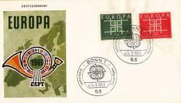 CEPT - FDC Duitsland - Bonn 14-09-1963 - Michel 406 - 407 - Europa-CEPT
