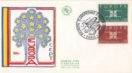 CEPT - FDC Frankrijk - Paris 14-09-1963 - Michel 1450 - 1451 - Europa-CEPT