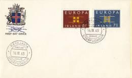 CEPT - FDC IJsland - Reykjavik 16-09-1963 - Michel 373 - 374 - Europa-CEPT