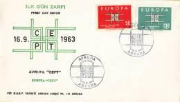 CEPT - FDC Turkye - Ankara 16-09-1963 - Michel 1888 - 1889 - Europa-CEPT