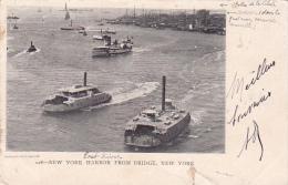22025 Thomazi - New York N.Y. Harbor From Bridge -Blanchard - Abimée