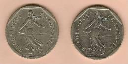 2 Pieces FRANCE 2 Francs Nickel Semeuse 1979 Et 1981 .Superbe - France