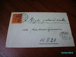 LATVIA  1930  TPO  TRAIN  MAIL  VALKA - RIGA  PW  , PV  RIGA - VALKA  PENALTY  CANCELLATION  , OLD COVER  ,m - Lettonie