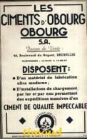LES CIMENTS D´ OBOURG S.A. / OBOURG / BUREAU DE VENTE : BRUXELLES /  PUB 1948 - Sin Clasificación