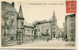 CPA 42 BOURG ARGENTAL LE PRESBYTÈRE ET L EGLISE 1906 Animée - Bourg Argental