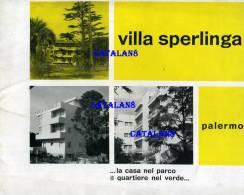 V1877 PALERMO VILLA SPERLINGA DEPLIANT PUBBLICITA' CENTRO RESIDENZALE PIANTINA APPARTAMENTI - Europa