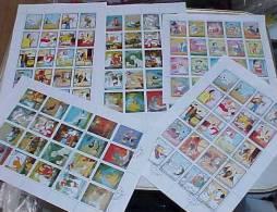 DISNEY Mickey Mouse Characters  + The Aristocats + 101 Dalmatians 5 Sheetlets Of 20 - Fujeira 1972 (3 **/MNH + 2 °/CTO) - Disney