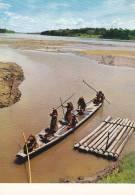 CPSM PERU PEROU RIO AMAZONAS INDIGENAS CANOA Y BAISA CANOE AND REFT AMAZON RIVER - Perù