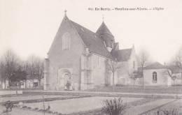 CPA 18  MOULINS-SUR-YEVRE ,l'église. (animée) - Autres Communes