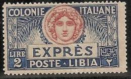 LIBIA 1921/23 - Yvert #6 (express) - MLH * - Libia