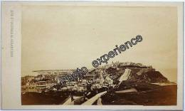 Photo Cdv XIX Ville Port Panorama 1870 AVRANCHES Manche 50 Basse Normandie - Oud (voor 1900)