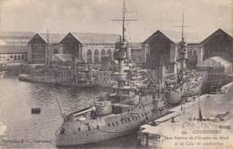 50 - Cherbourg - Le Navires De L´Escadre Du Nord Et Les Cales De Construction - NEUVE - 2 Scans - - Oorlog