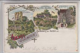 5102 WÜRSELEN - BARDENBERG, Gruss Von  Wilhelmstein, Restaurant Carl Kolberg, Lithographie - Wuerselen