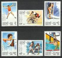 Mua325 SPORT OLYMPISCHE SPELEN RINGEN SWIMMING HIGH JUMP BOXING OLYMPIC GAMES BARCELONA LAOS 1989 PF/MNH - Zomer 1992: Barcelona