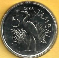 MALAWI 5 TAMBALA BIRD FRONT EMBLEM BACK 1995 KM? UNC READ DESCRIPTION CAREFULLY !!! - Malawi