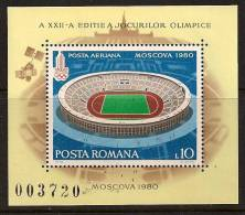 ROMANIA 1979 SPORT OLYMPIC STADIUM SC # 2868 MNH - 1948-.... Republiken