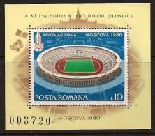 ROMANIA 1979 SPORT OLYMPIC STADIUM SC # 2868 MNH - Nuovi