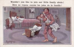 CPA JOIES DE LA FAMILLE BEBE PLEURE EN PLEINE NUIT HUMOUR DESSIN DONALD MC GILL ? - Humor