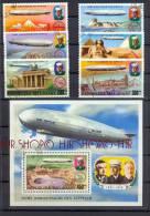 Malagasy-Madagaskar 1976 Zeppelin, Satz 6 W Gest. + Block Gest. Zustand: I-II,  Marken Werden In Klarsichthülle Verschic - Madagaskar (1960-...)