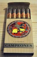 Cigares - Boite 5 Cigares Campeones - RARE Pour Collectionneur - Ohne Zuordnung