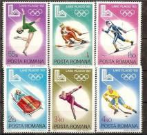 ROMANIA 1979 SPORT OLYMPIC PLACID SC # 2926-2931 MNH - 1948-.... Republiken