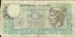 REPVBBLICA ITALIANA  CINQUECENTO     Lire - Italie