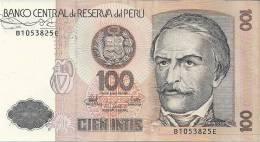 BANCO CENTRAL De RESERVA Del PERU   100  CIEN INTIS - Pérou